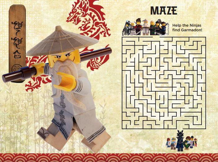 17 Free LEGO Ninjago Movie Printable Activities & Online Games - Mrs. Kathy King