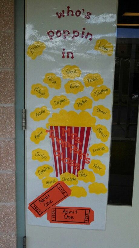 Welcome Door For Back To School.