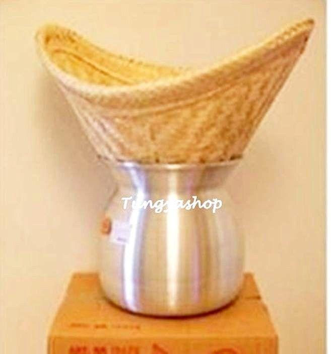 Streaming Sticky Rice Handcraft Cook Thai Food Menu Recipe Kitchen Cook (Basket) #Handmade