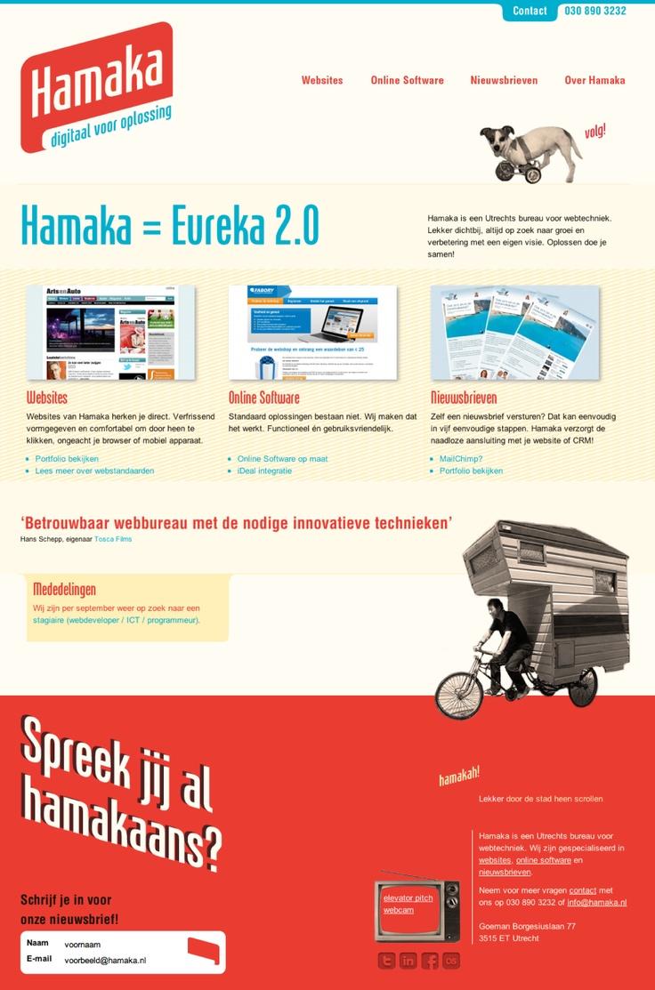 Website voor Hamaka, Utrechts bureau voor webtechniek