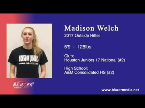 2017 Outside Hitter - Madison Welch - Volleyball Skills Video - IBOtube