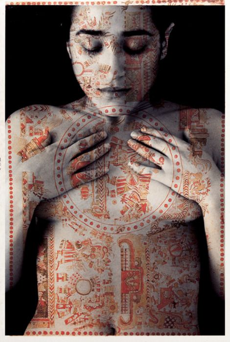 Tatiana Parcero (Mexican artist), Cartografia interior nr. 43, 1996   …..for breast cancer awareness month…..love to all