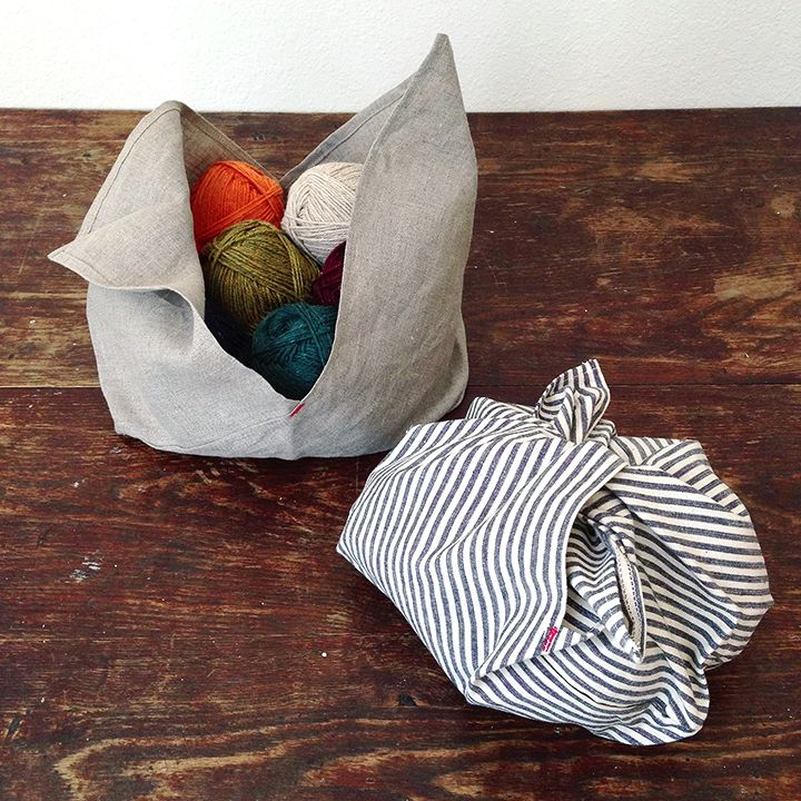 The large is big enough for a lightweight sweater project, big scarf or shawl. (Or for corralling all the parts for that sewing project in p...