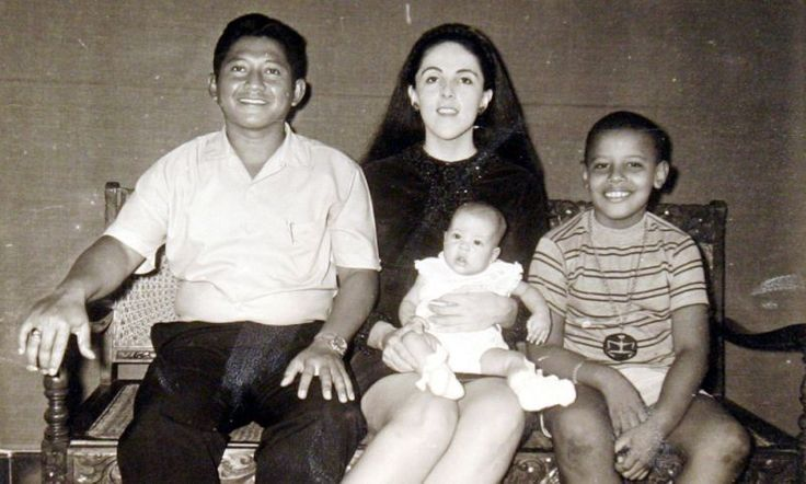 <p>Barack Obama with his stepfather, Lolo Soetoro, his sister, Maya Soetoro, and his mother, Ann Dunham, in an undated family snapshot released by his presidential campaign, Feb. 4, 2008. (Photo: Obama For America/Reuters) </p>