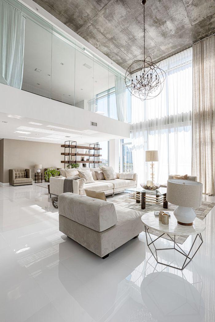 living room  White Interior  Pinterest  거실, 모던 인테리어 및 모던 주택