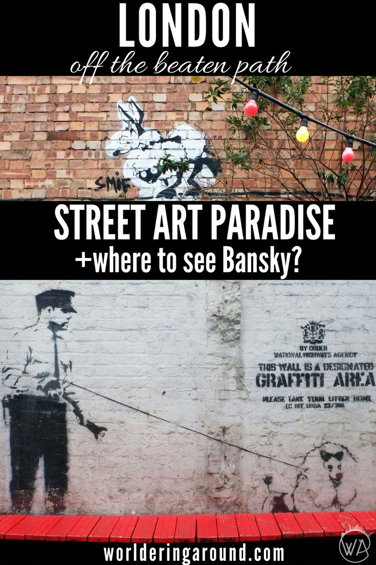 Where to see Banksy in London + more! Discover London's East End artistic hub and street art paradise – visit Brick Lane! Check off the beaten path places in London. Great for street art lovers, market enthusiasts, and foodies | Worldering around