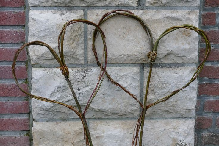 EinArm voller Weidenzweige, den ich mir Ende Januar holen durfte,soll in diesem Jahrfür kleinere Bastelaktionen reichen.Heute nahm ich mir einen Ast mit Gabelung. Unterhalb der Gabelung drahtete ich vier dünne Zweige fest, sodass ich zwei Dreier-Zöpfe flechten konnte, deren Enden nach Fertigstellung vorsichtig nach unten gebogen an den Haupzweig gedrahtet …