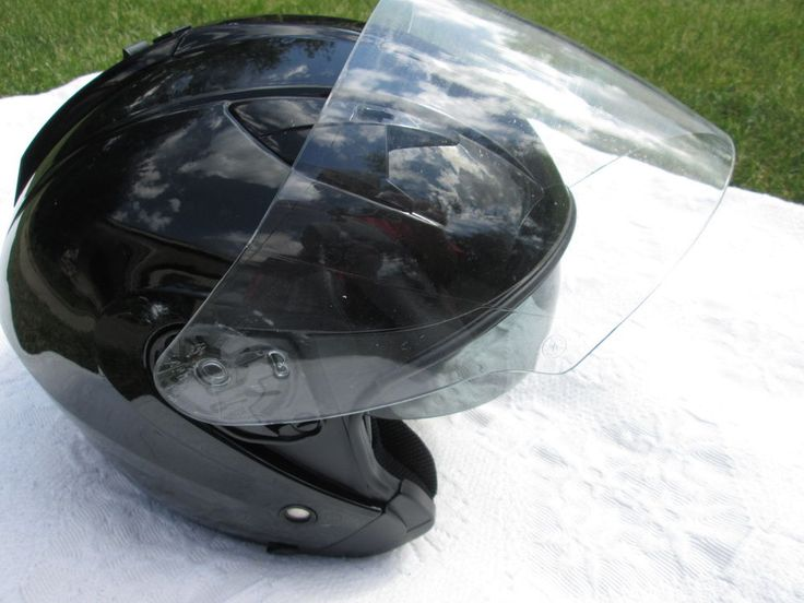 HJC Motorcycle Helmet Retractable Shade Sun DUAL Visor Plus Clear Face Shield #HJL #Motorcycle