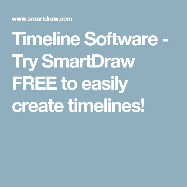 Timeline Software - Try SmartDraw FREE to easily create timelines!