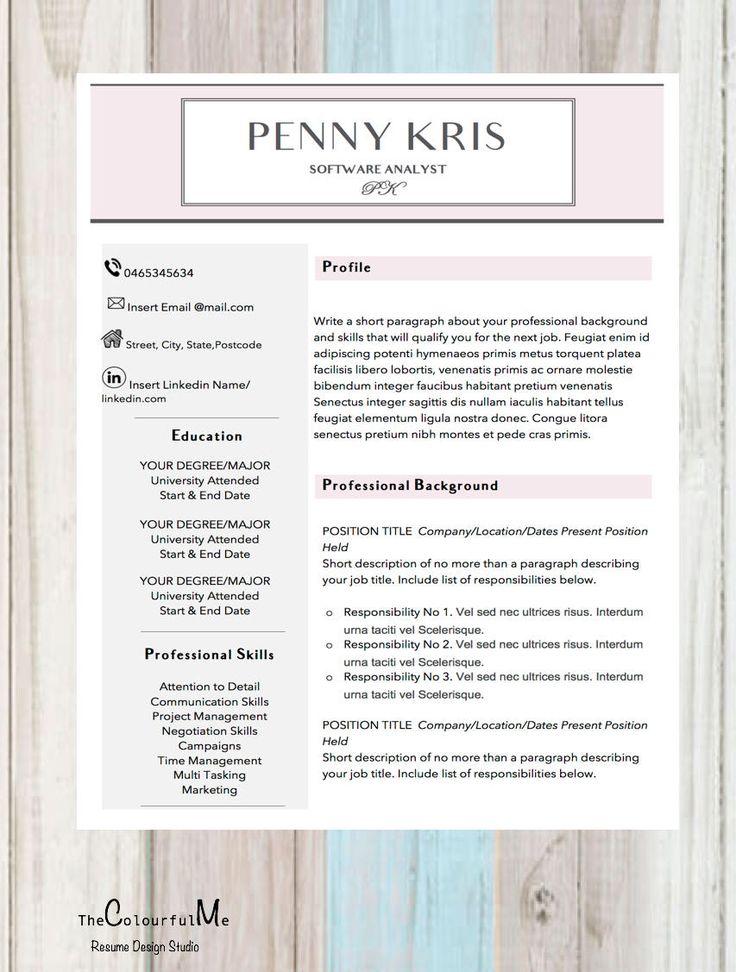 Modern Resume Template / Creative Retail Resume / Cover