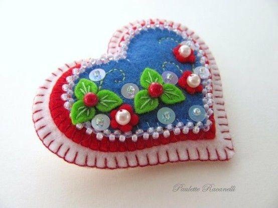 pretty felt ornaments
