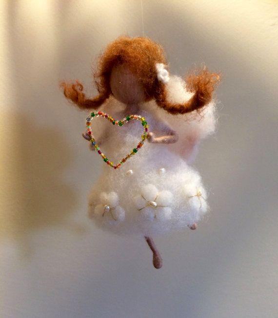 Hadas fieltro de aguja Waldorf inspiraron Angel por DreamsLab3