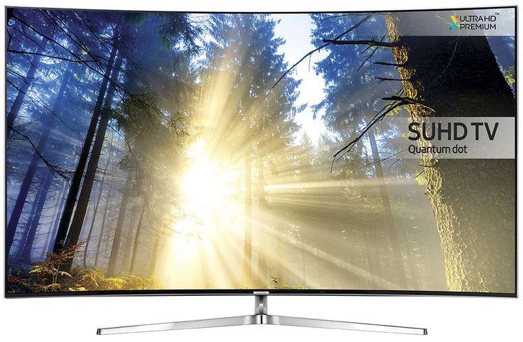 """Samsung UE55KS9000  Description: Samsung UE55KS9000: Super Ultra HD Curved 55"""" Smart TV De Samsung UE55KS9000 heeft een waanzinnig mooi 55"""" SUHD Curved scherm voorzien van hypermoderne technologieën. Precision Black Pro en Peak Illuminator Pro werken samen om met dezelfde hoeveelheid energie de zwarte delen te dimmen en de helder plekken extra te accentueren. Het beeld is met Super Ultra HD kwaliteit wel vier keer zo scherp als een UHD tv! Levensechte details een Curved beeldscherm en HDR…"""