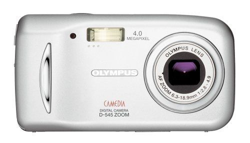 Olympus D545 4MP Digital Camera with 3x Optical Zoom by Olympus. $199.90. From the Manufacturer                 One touch is all it takes to go from beginner to expert with the D-545. Spin the convenient mode dial to switch between 19 automatic scene modes. Press the separate buttons to quickly shoot, play back, or delete pictures. Push the menu pad to display the in-camera Help Guide for quick photo tips. And see the results in clear, vibrant fashion thanks to ...