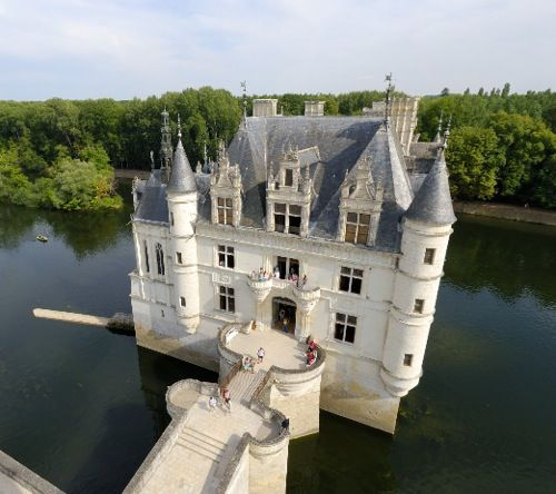 Island Castle, Chenonceau, France.