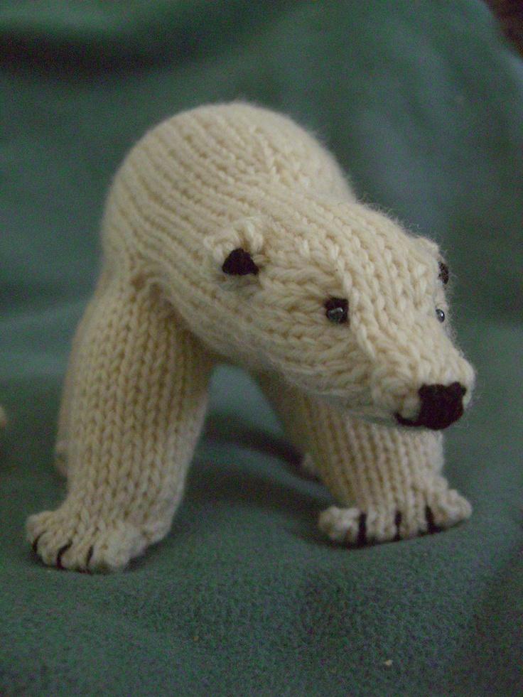 Peabey the Polar Bear knitting pattern on Ravelry site Polar Bear & Arc...