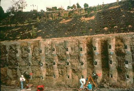 Slurry wall w tiebacks