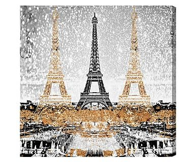 Картина на холсте Triple Paris Gold - холст