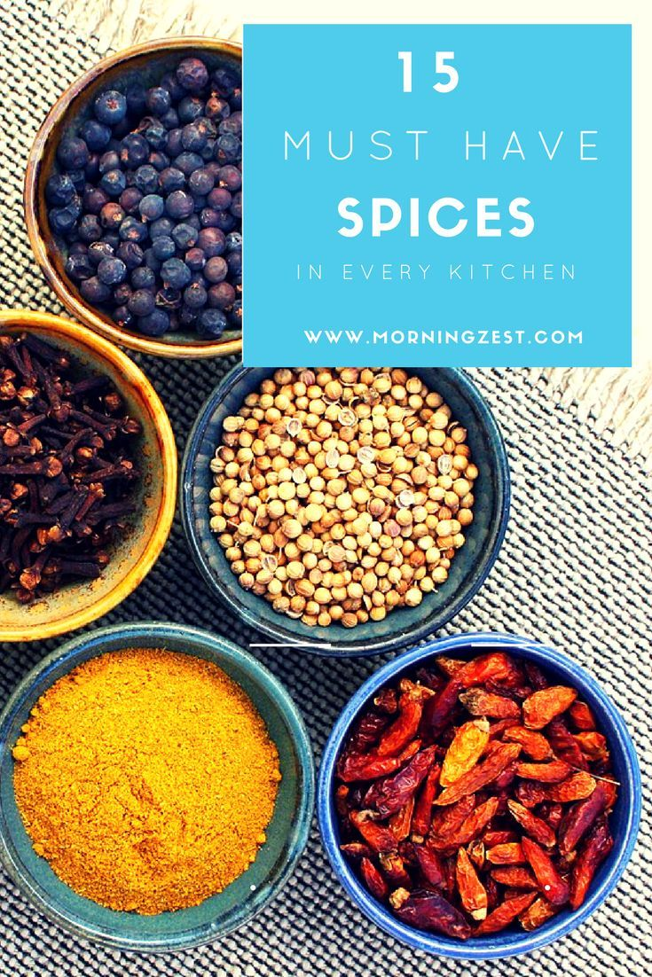 15 Must have spices | www.morningzest.com | #musthave ...