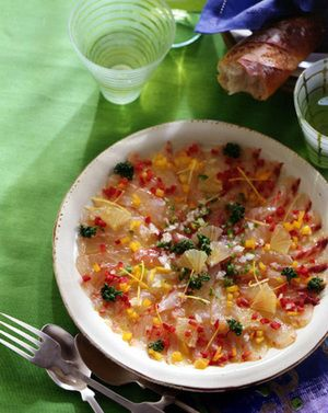 白身魚のカルパッチョ | 田口成子さんのレシピ【オレンジページnet】プロに教わる簡単おいしい献立レシピ