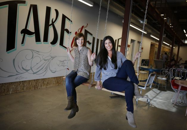 Michelle DiGiacomo (left) and Shana Larson serve as executive assistants to top company officials at San Francisco's Pinterest.