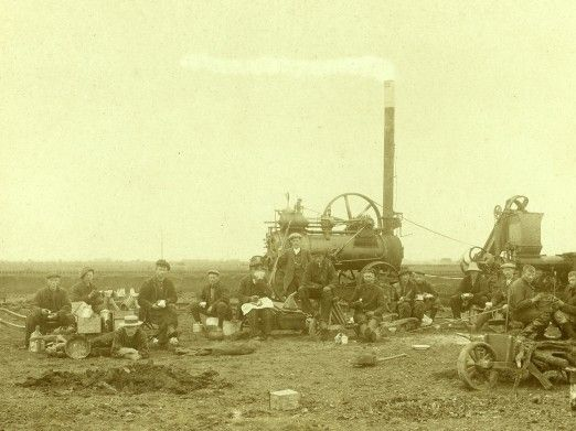 Veenarbeiders in Tweede Exloërmond in 1910.