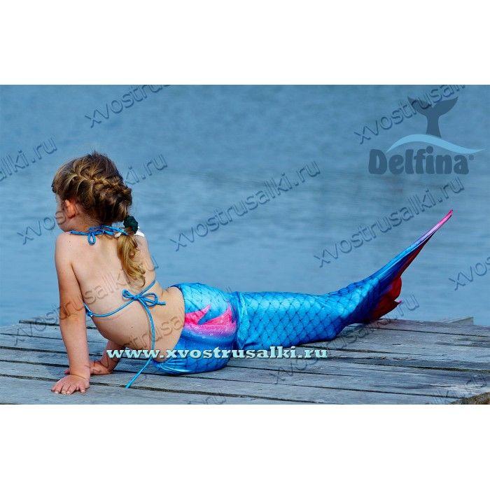 Хвост русалки Delfina Sea Prinsess 3D синий+купальник для плавания с моноластой, крупной чешуей и плавником #mermaid #mermaidtail #русалка #русалки #ярусалка #хвострусалки #мойхвострусалки #русалочка
