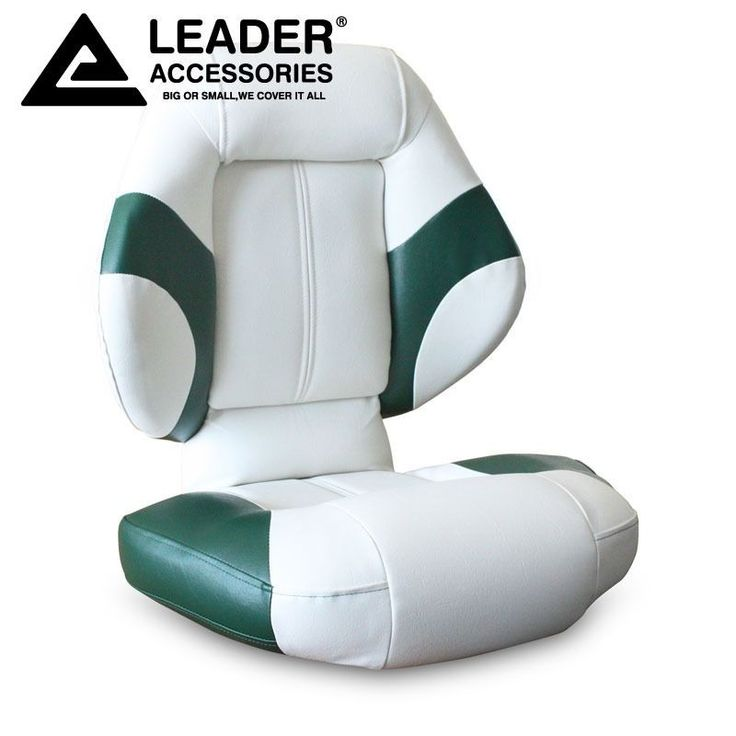 Leader Accessories Bass Boat Seat Fishing Chair Green White