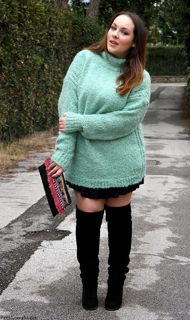 OUTFIT || Un maglione oversize verde menta ~ Iris Tinunin - Fashion and Beauty Blogger