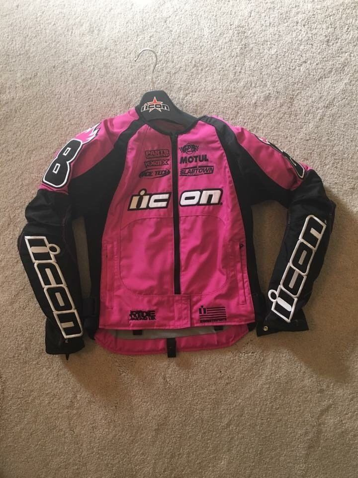 http://motorcyclespareparts.net/womens-icon-motorcycle-jacket-perfect-condition/womens icon motorcycle jacket, Perfect Condition.