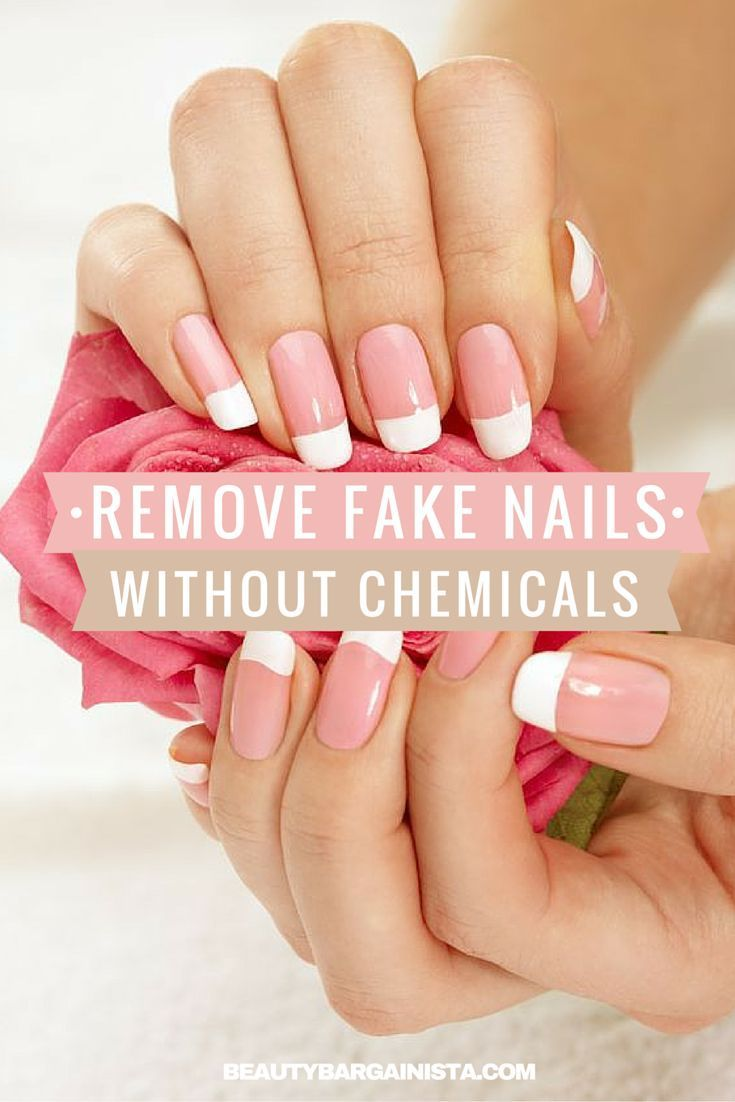 How To Remove Acrylic Nails Without Acetone Nail Clippers Or Destroying Your Nail Bed Take Off Acrylic Nails Fake Acrylic Nails Remove Acrylic Nails