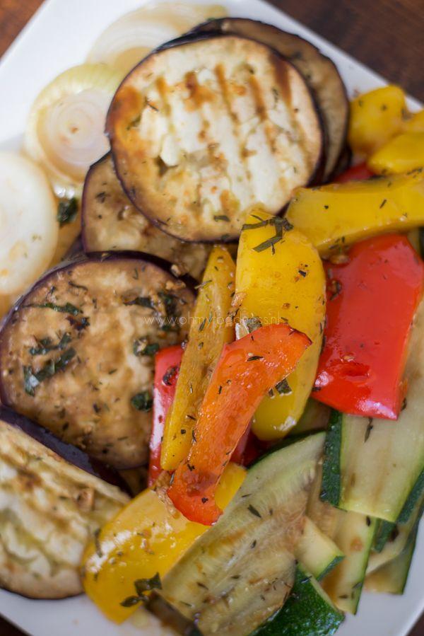 Gegrilde groenten met balsamico - OhMyFoodness