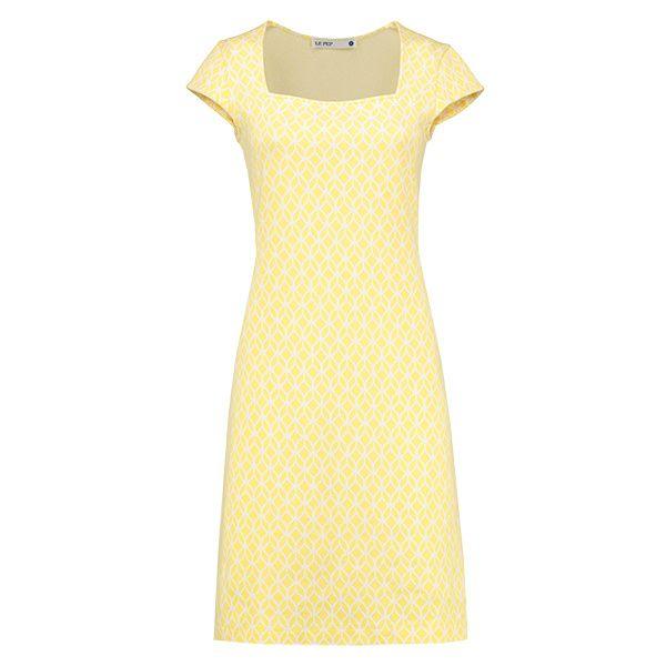 Le Pep Carmen Primrose Yellow | dress jurk geel print wit white Nieuw binnen! | Mijn Lievelingskleding