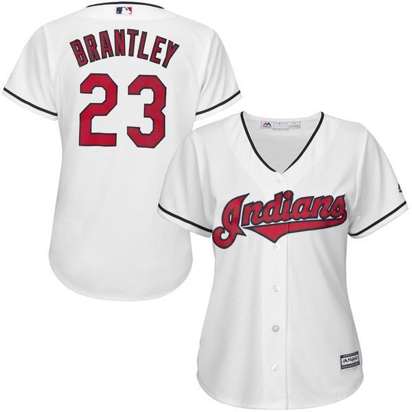 Michael Brantley Cleveland Indians Majestic Women's Cool Base Player Jersey - White - $99.99