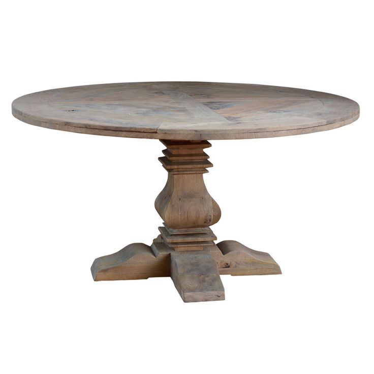 Reclaimed Sandblasted 60-inch Round Dining Table