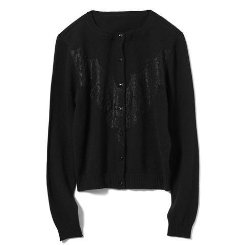 Black Luxury Cashmere Cardigan #AkikoOgawa. #Lingerie #2016AW #CASHMERE&COMFORT www.aolingerie.com