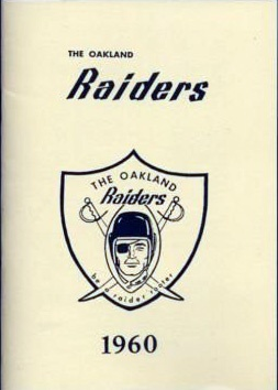 AFL 1960 Oakland Raiders Media Guide