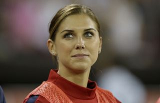 Soccer star Alex Morgan held out of game because of a minor ankle injury.