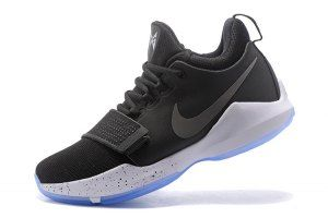 43e8e8cce Men s Paul George Nike PG 1 Black White Hyper Turquoise Black 878627 001 Basketball  Shoes