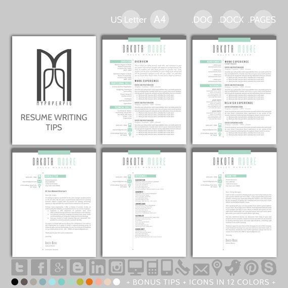 58 best resumes images on Pinterest Resume templates, Creative - resume template in word 2010