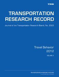 Travel Behavior 2012, Volume 2: modeling response to park, school mode choice, travel patterns of elderly, etc.