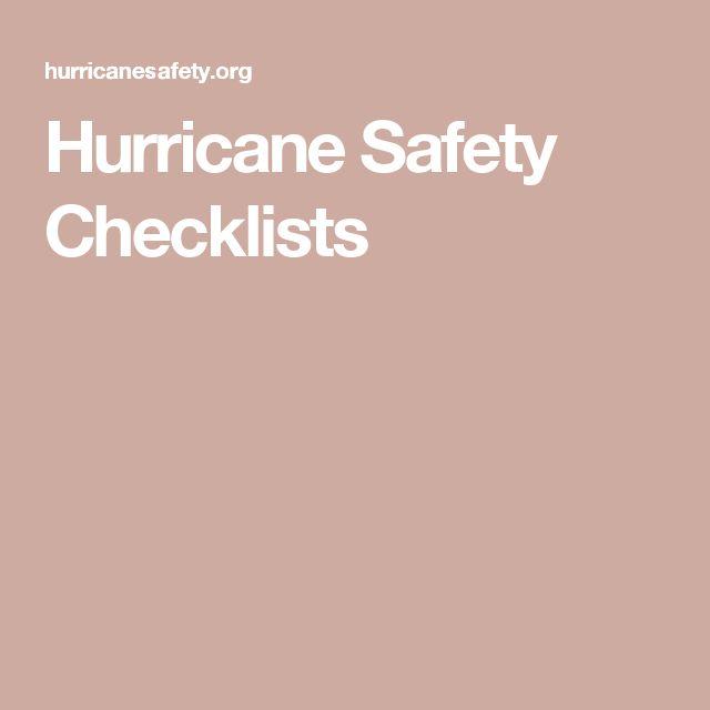 Hurricane Safety Checklists