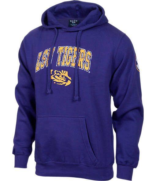 Louisiana State University LSU Tigers Hoodie Logo Sweatshirt (Purple, Mens X-Large)
