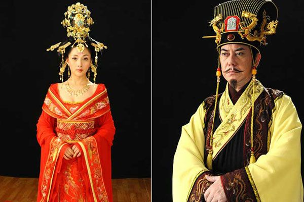 Yin Tao as Yang Guifei (left) and Anthony Wong as Xuanzong in the upcoming television drama, Secret Anecdotes of Yang Guifei.