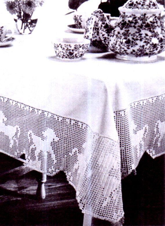 PDF 1950s Pretty 'Frolicking Lambs' in Filet by TheAtticofKitsch