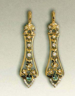 Нагурная, Наталья 1998 Золото (750), бриллианты, аметисты Москва