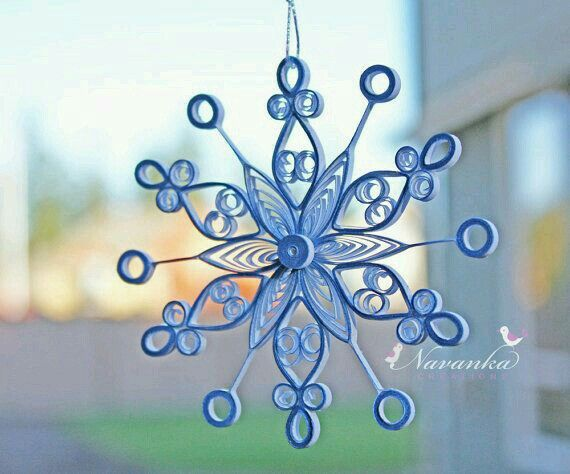 Quilled Blue Snowflake