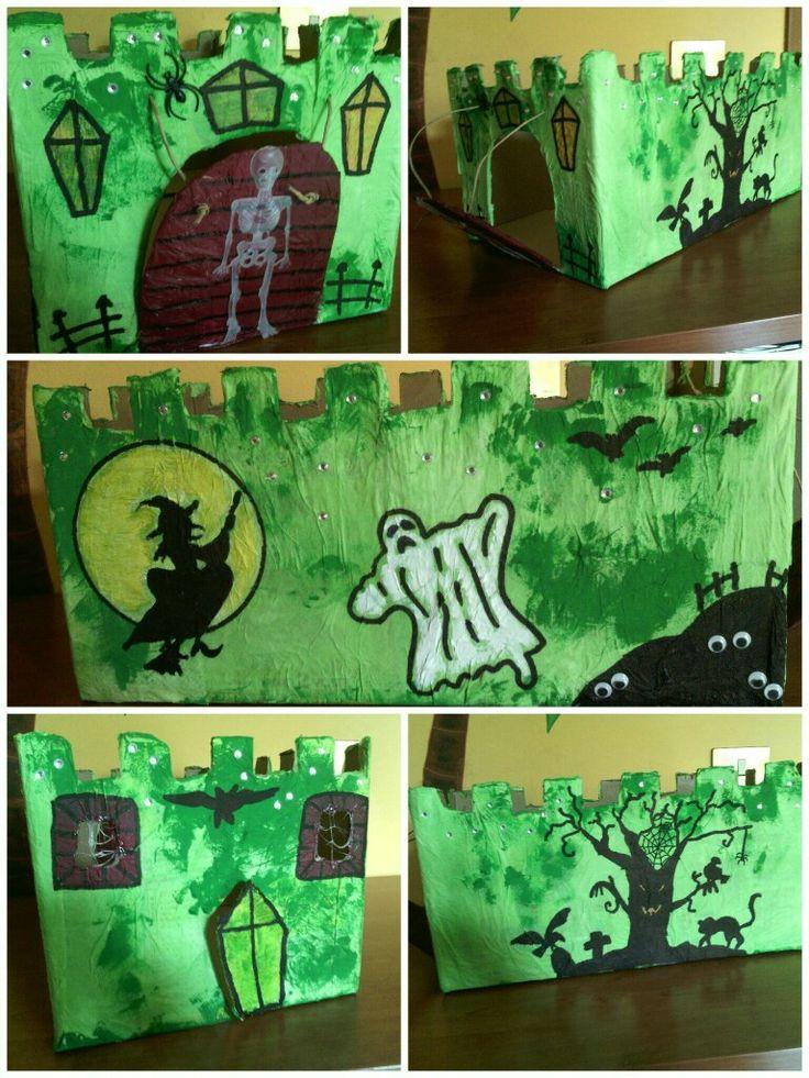 Lo scatolone dei pannolini diventa un castello spaventoso ;-)