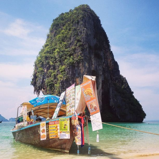 Phra Nang bay is picture postcard perfect - dramatic cliffs, white sands and aquamarine water. One of the big... read more...