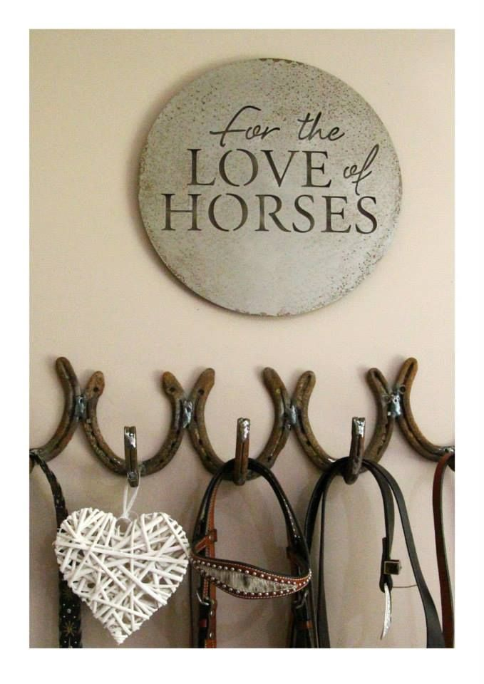 Metal Art horse shoe storage hooks - great idea. Support the Wilson Sisters - Keeping up with the Kaimanawa's team.  Available from: Email info@kellywilson.co.nz to order, $30 from each purchase will be donated to the Major KH Fund.